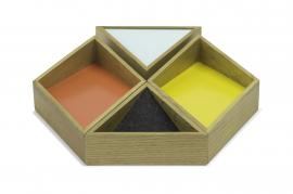 OAK WOOD HEXAGON TRAY - CDTW3120
