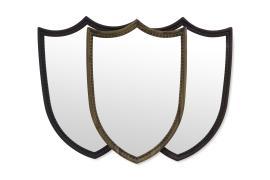 Shield shape mirror