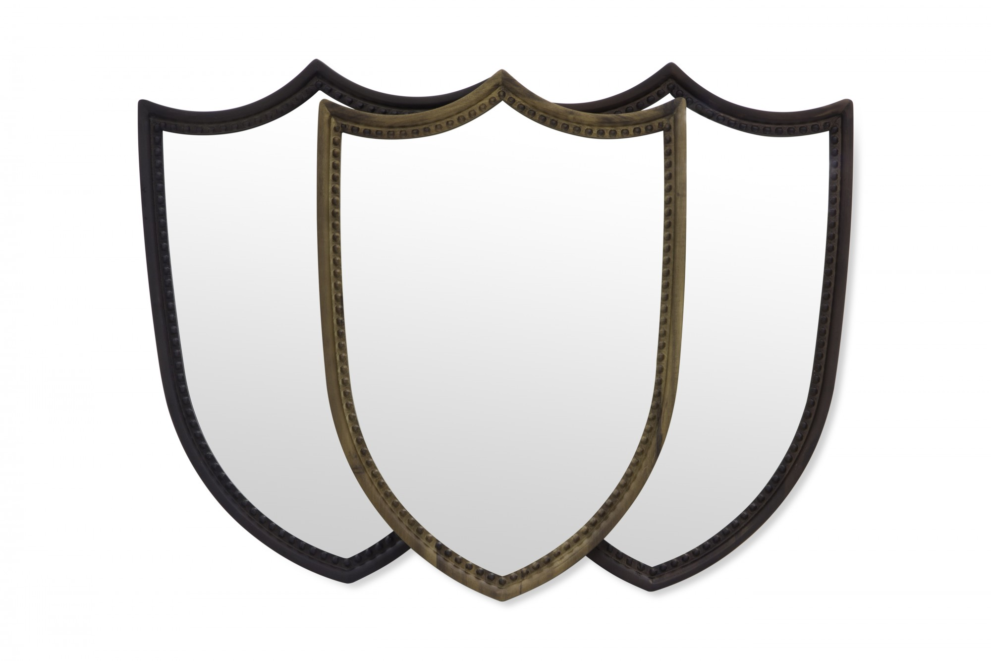 Shield shape mirror