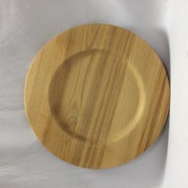 ASH WOOD ROUND PLATE - CDTW3080